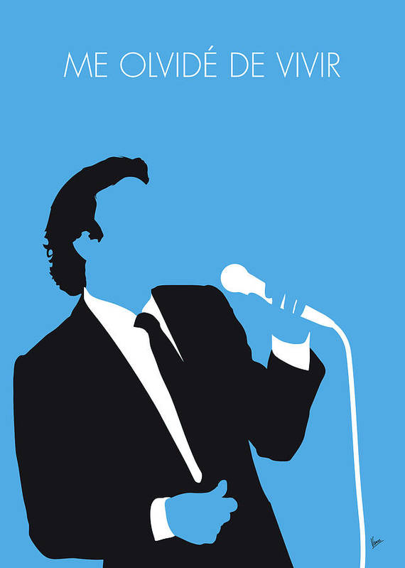 Julio Art Print featuring the digital art No279 My Julio Iglesias Minimal Music Poster by Chungkong Art