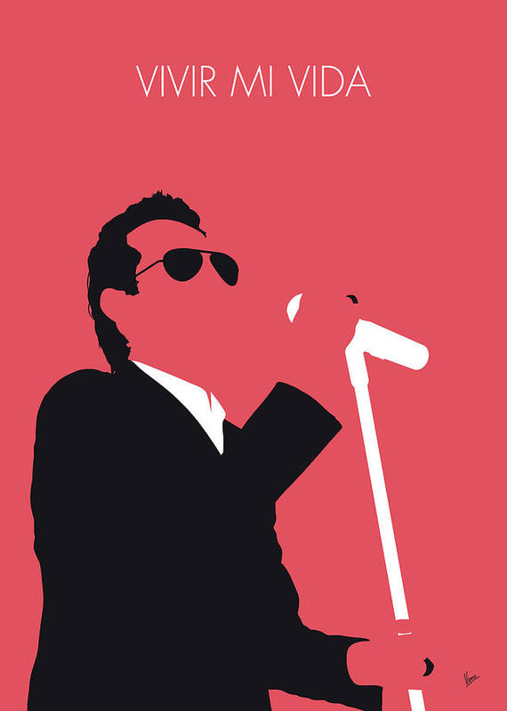Marc Art Print featuring the digital art No292 My Marc Anthony Minimal Music Poster by Chungkong Art