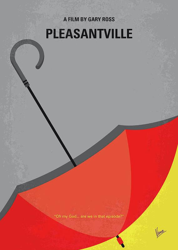 Pleasantville Art Print featuring the digital art No990 My Pleasantville Minimal Movie Poster by Chungkong Art