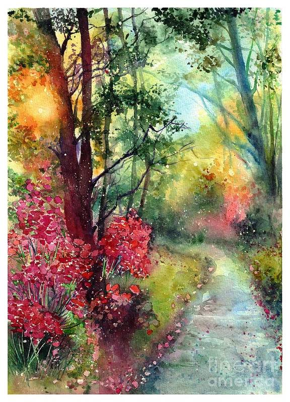 Nature Art Print featuring the painting Where Do We Go by Suzann Sines
