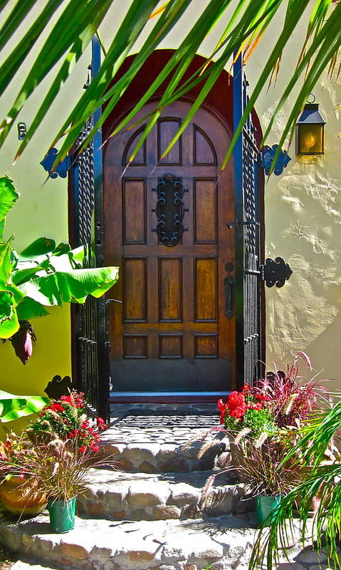 Photograph Of Door Art Print featuring the photograph Classic Belmont Shore by Gwyn Newcombe