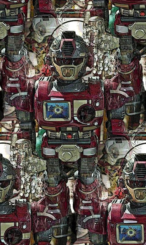 Robot Art Print featuring the photograph Transformique For Sale by Gwyn Newcombe