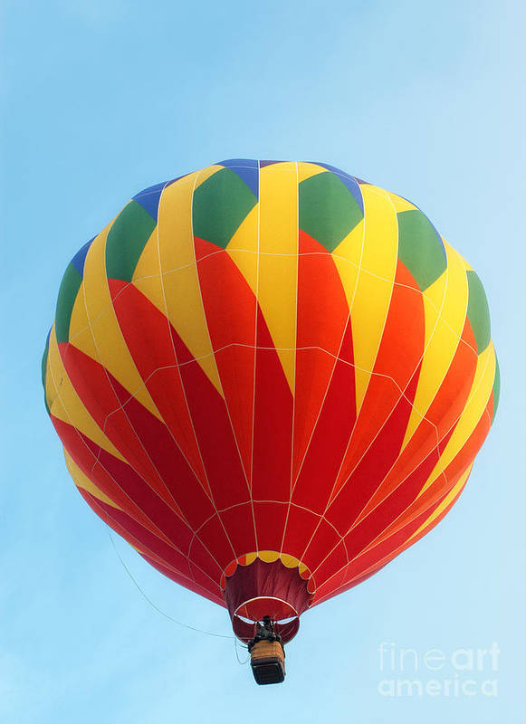 Hot Air Balloon Art Print featuring the photograph Airborne by Claudia Kuhn