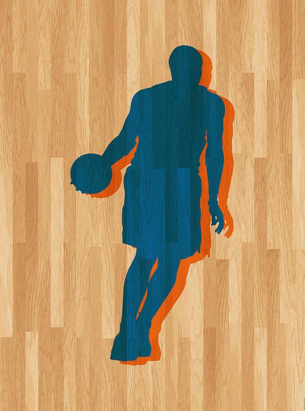 Anthony Art Print featuring the photograph Carmelo Anthony New York Knicks by Joe Hamilton