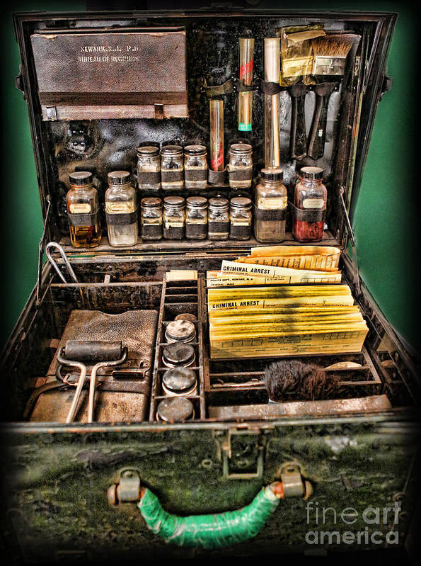 Csi Art Print featuring the photograph 1800's Fingerprint Kit by Lee Dos Santos