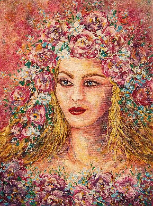 Goddess Art Print featuring the painting Good Fortune Goddess by Natalie Holland