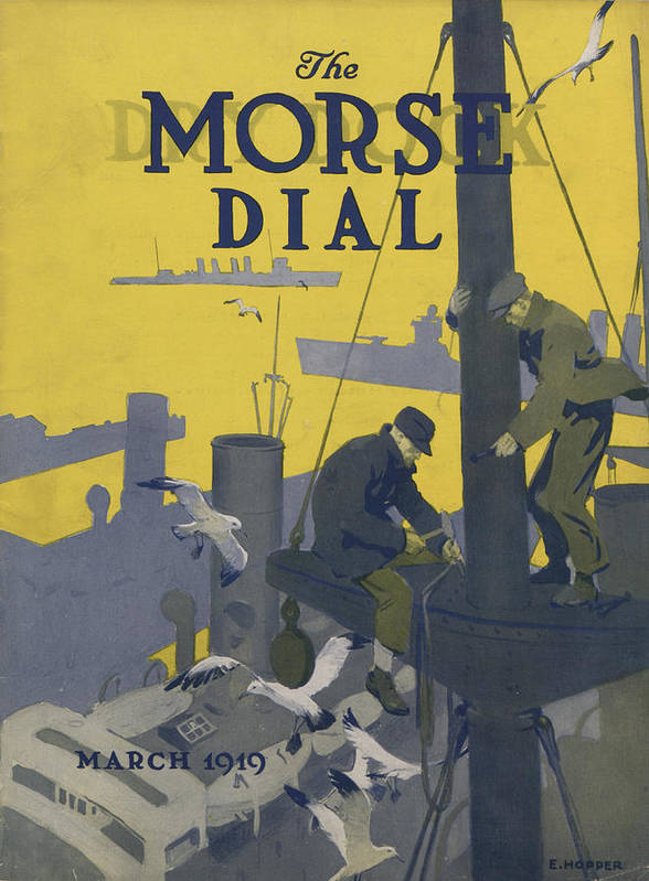 Morse Print featuring the painting Morse Dry Dock Dial by Edward Hopper
