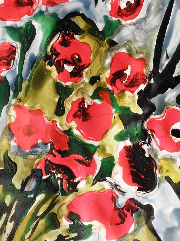 Flowers Art Print featuring the painting Fragrance Of Flowers by Baljit Chadha