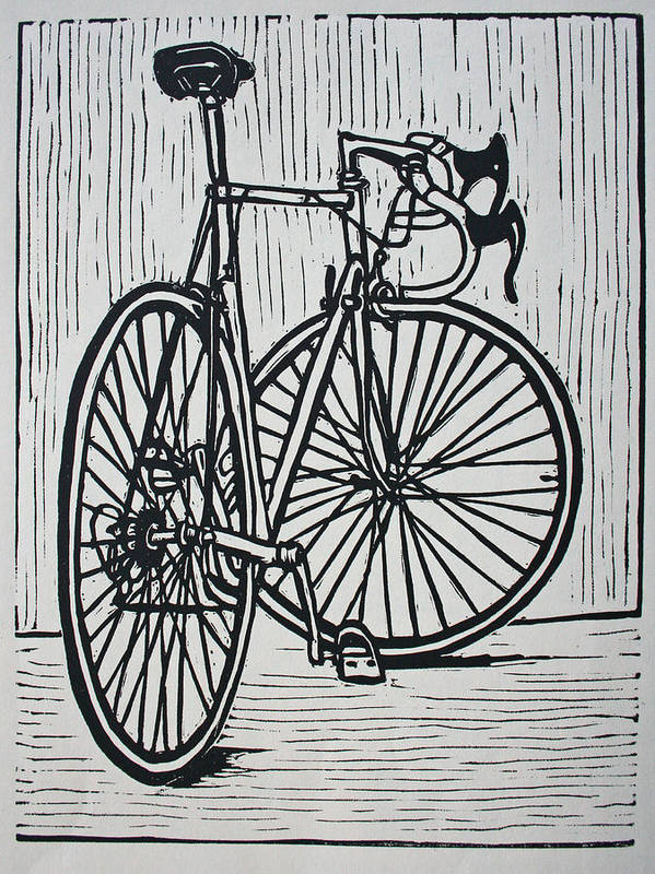 Bike Art Print featuring the drawing Bike 4 by William Cauthern