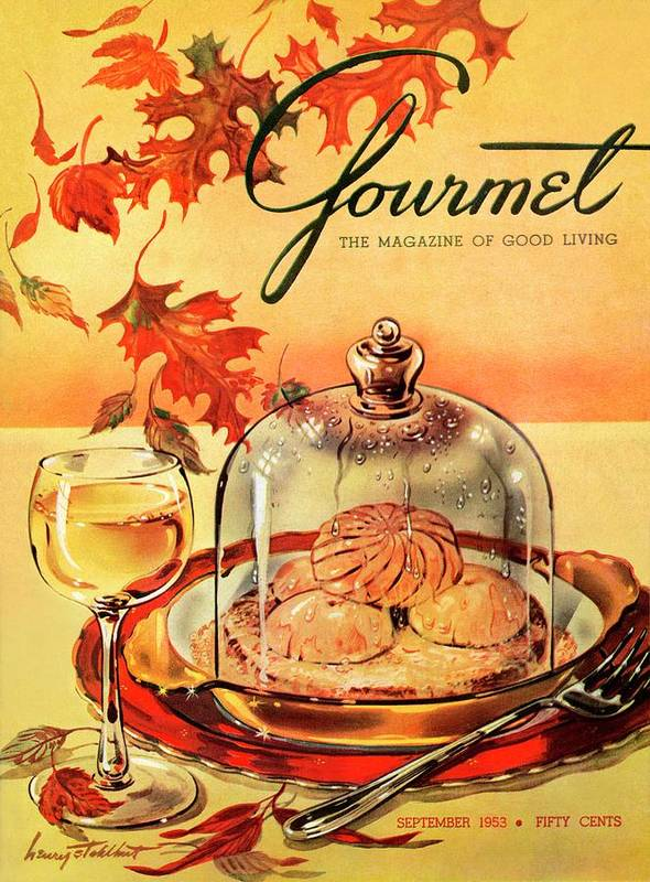 Illustration Art Print featuring the photograph A Gourmet Cover Of Mushrooms On Toast by Henry Stahlhut
