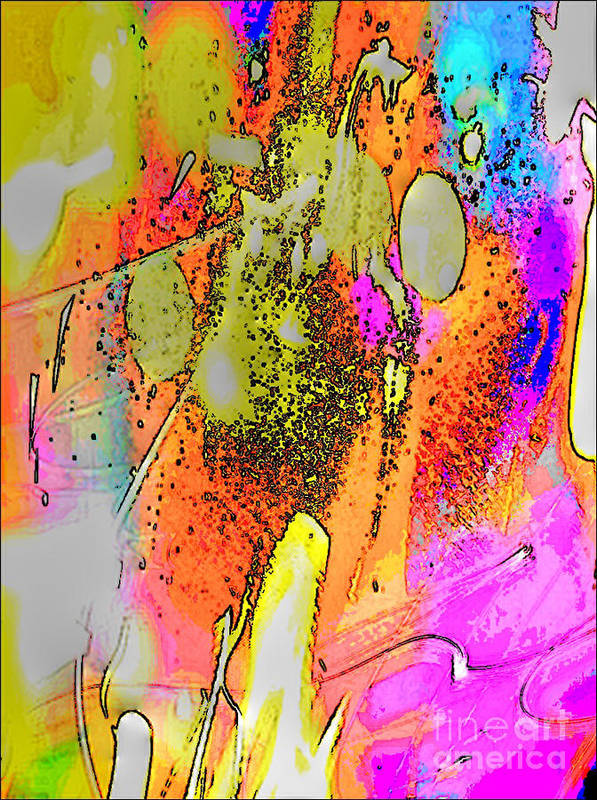 Abstract 2 Art Print featuring the digital art Abstract 2 by Gayle Price Thomas