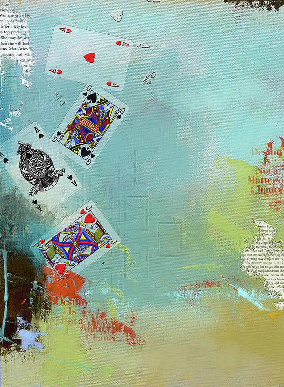 Playing Cards Art Print featuring the painting Abstract Tarot Card 009 by Corporate Art Task Force