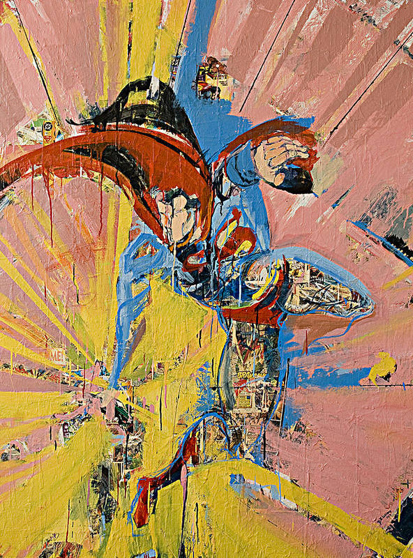 Abstract Art Paintings Art Print featuring the painting Action Abstraction No. 14 by David Leblanc
