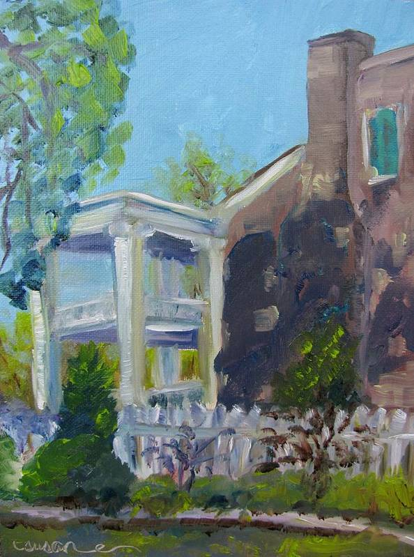 Carnton Art Print featuring the painting Afternoon At Carnton Plantation by Susan Elizabeth Jones