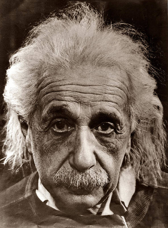 Albert Einstein Art Print By Unknown