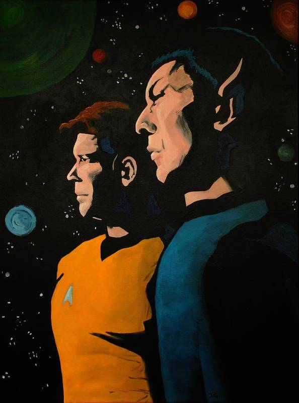 Star Trek Art Print featuring the painting Among Stars by Judith Groeger