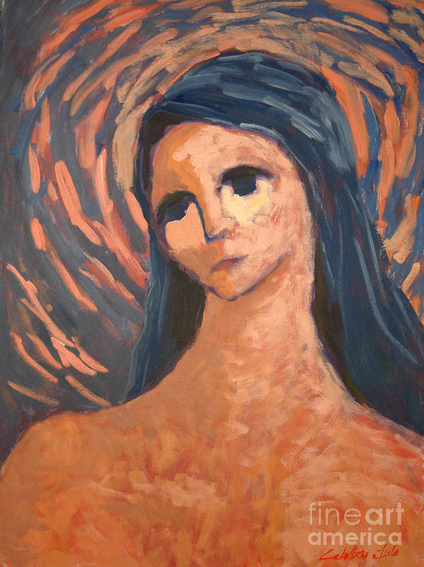 Portraits Art Print featuring the painting Angel by Monica Caballero