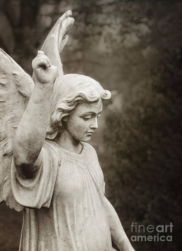Angel Print featuring the photograph Angel Of Comfort by Terry Rowe
