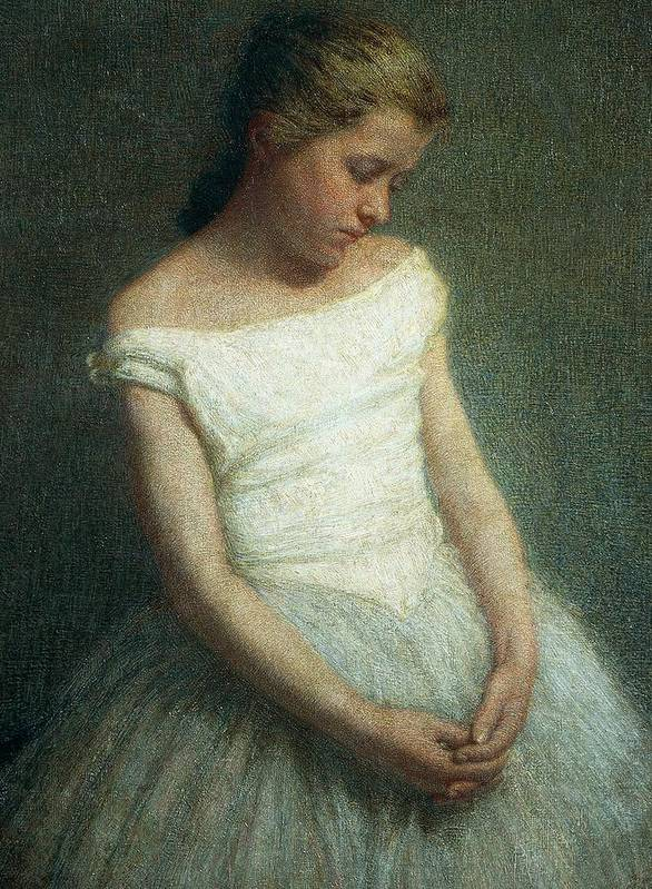 Painting; 19th Century Painting; 20th Century; Europe; Italy; Morbelli Angelo; Dancer (female); Glance; Post-impressionism Art Print featuring the painting Ballerina Female Dancer by Angelo Morbelli