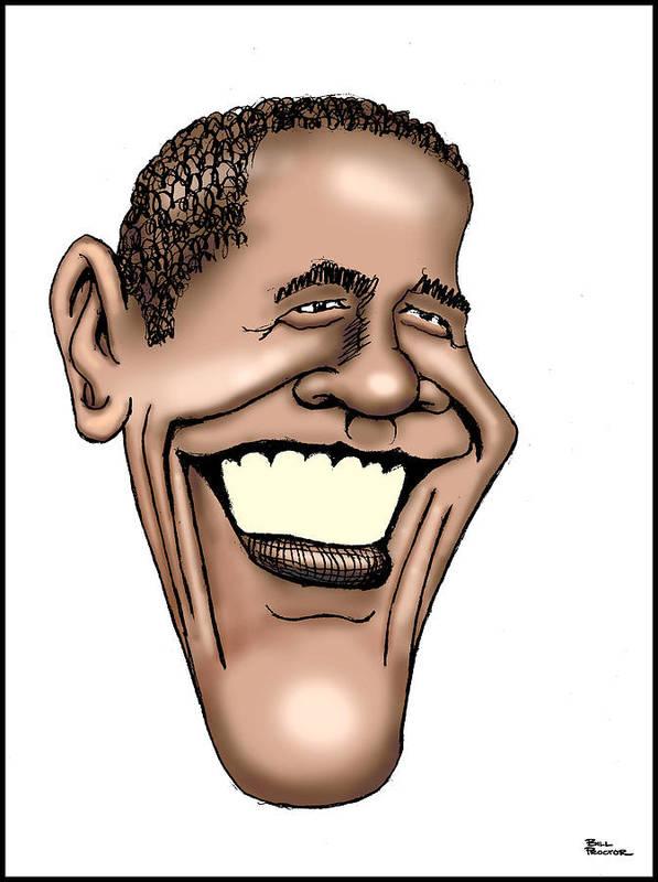 Barack Obama Print featuring the digital art Barack Obama by Bill Proctor