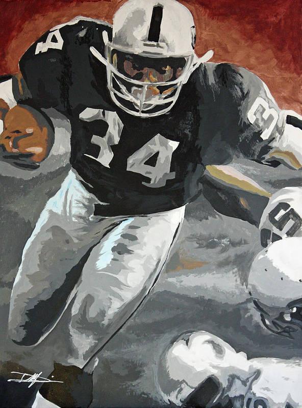 Bo Jackson Art Print featuring the drawing Bo Jackson by Don Medina