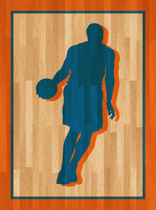 Anthony Art Print featuring the photograph Carmelo Anthony New York Knicks by Joe Hamilton