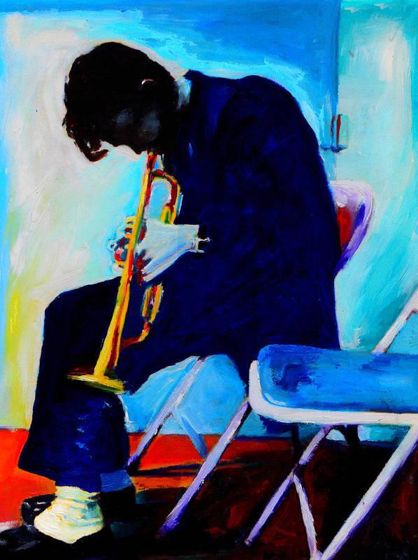 Blues Art Print featuring the painting Chet Baker by Vel Verrept