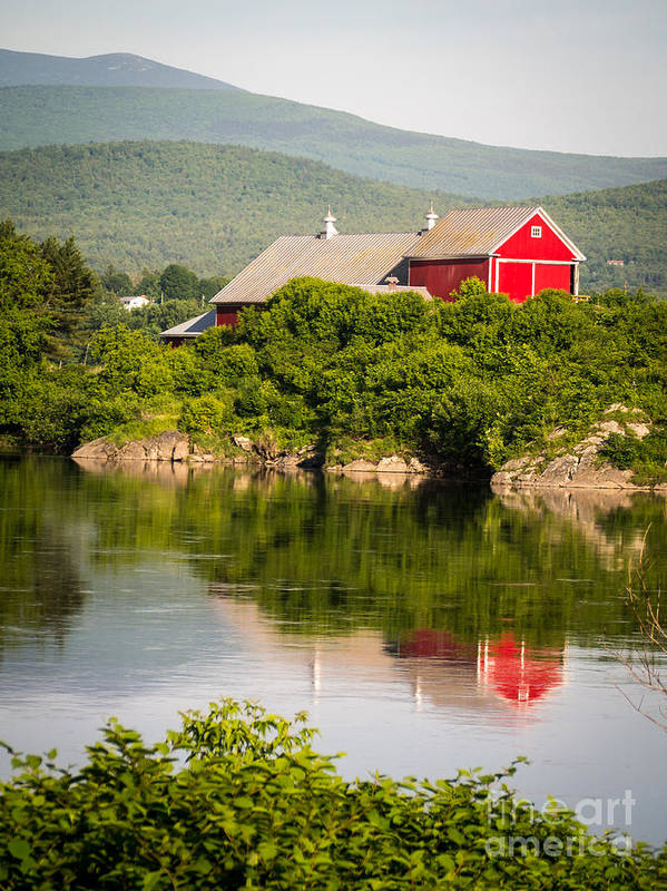 Collection Art Print featuring the photograph Connecticut River Farm by Edward Fielding