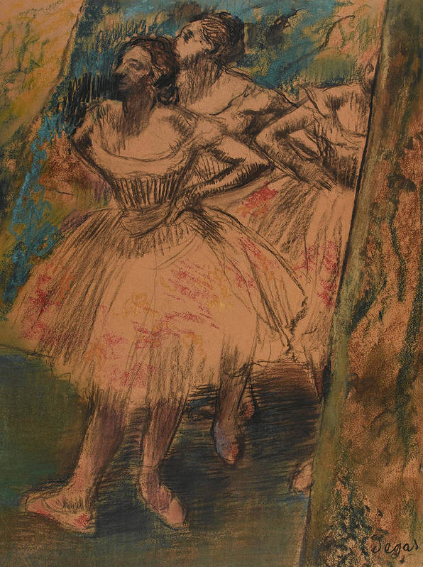 Impressionist Art Print featuring the painting Dancer In The Wing by Edgar Degas