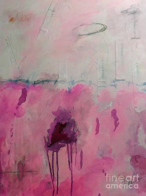 Art Art Print featuring the painting Days I Don't Remember Due To Grief And Anger by Shelli Finch