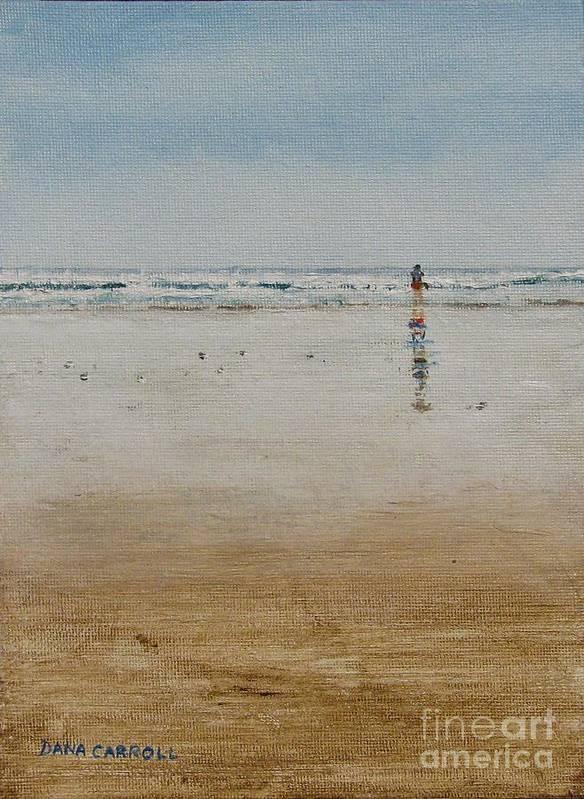 Ocean Art Print featuring the painting Ebb Tide by Dana Carroll