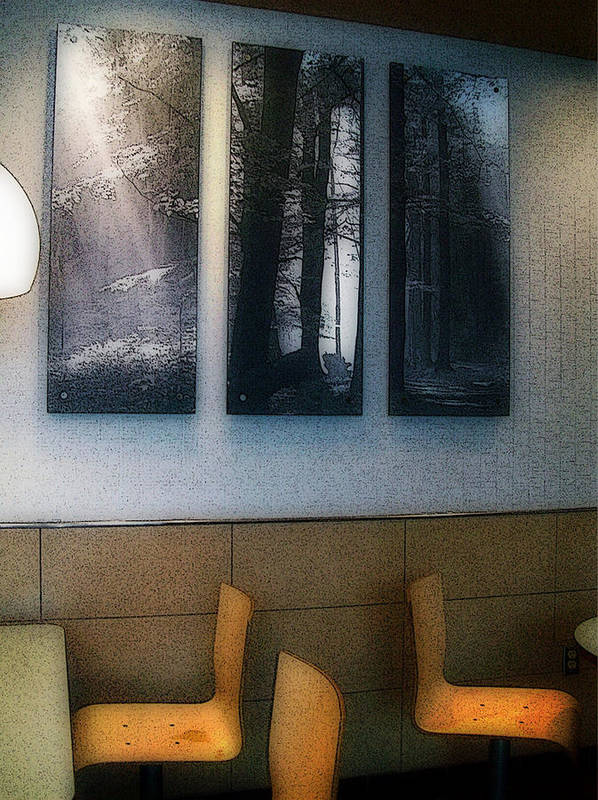Mj Olsen Print featuring the photograph Enjoying Our Beautiful Woodlands by MJ Olsen