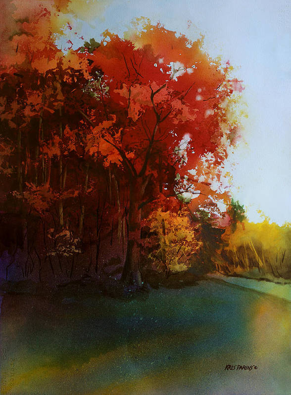 Kris Parins Art Print featuring the painting First Light by Kris Parins