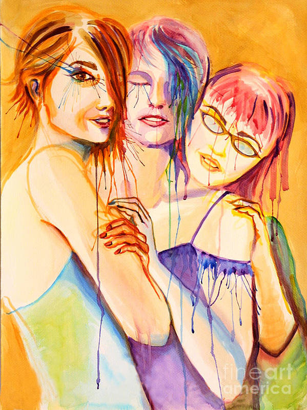 Portraits Art Print featuring the painting Flawless by Angelique Bowman