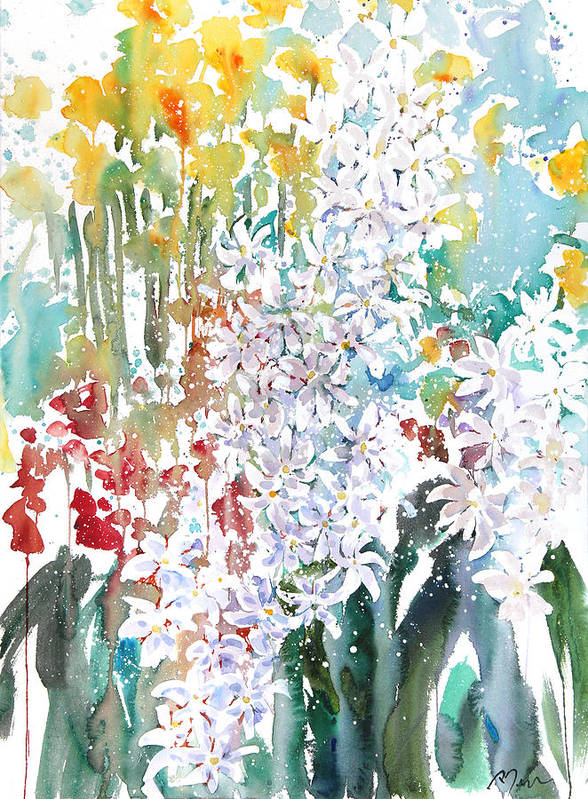Woods Art Print featuring the painting Fresh Pick No.380 by Sumiyo Toribe