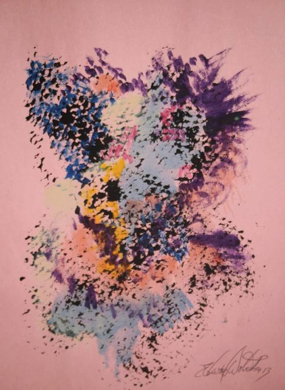 Rush Art Print featuring the painting Gaga's Rush by Edward Wolverton