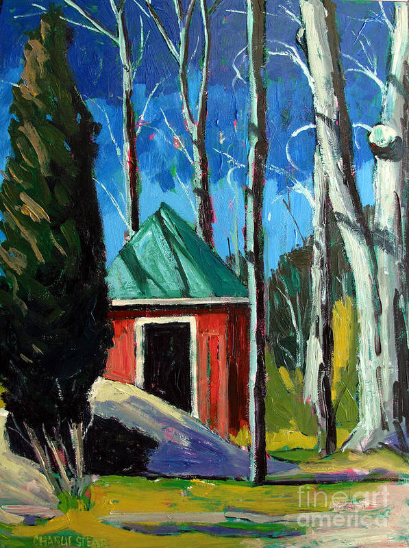 Golf Course Art Print featuring the painting Golf Shed Series No.12 by Charlie Spear