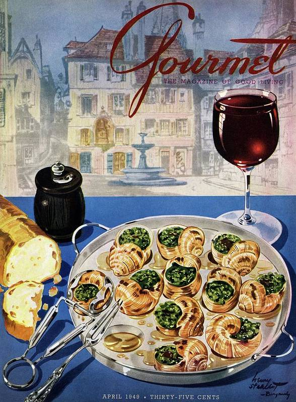 Food Art Print featuring the photograph Gourmet Cover Illustration Of A Platter by Henry Stahlhut