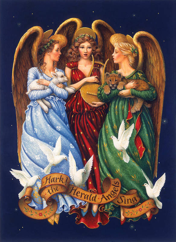Hark The Herald Angels Sing Art Print By Lynn Bywaters