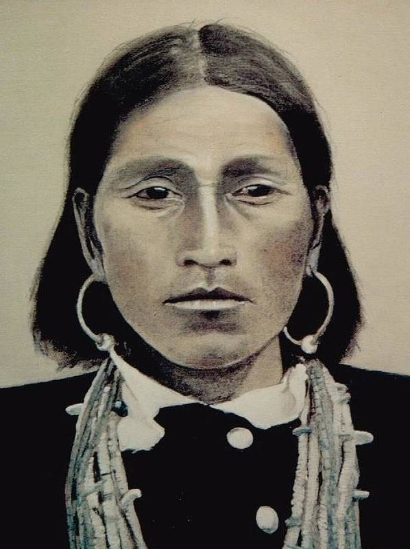 Hopi Art Print featuring the painting Hopi Woman Of The First Light by Terri Ana Stokes