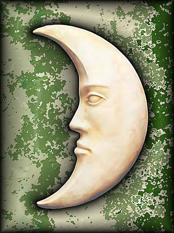 Moon Art Print featuring the digital art I See The Moon 3 by Wendy J St Christopher