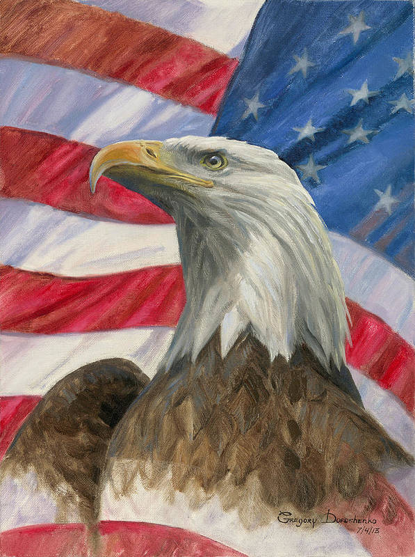 American Eagle Art Print featuring the painting Independence Day by Gregory Doroshenko