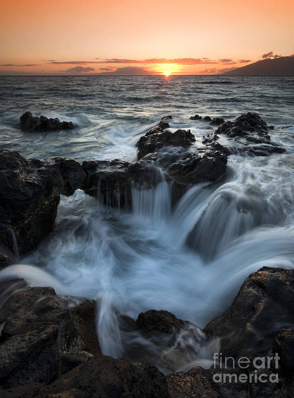 Maui Art Print featuring the photograph Influx by Mike Dawson