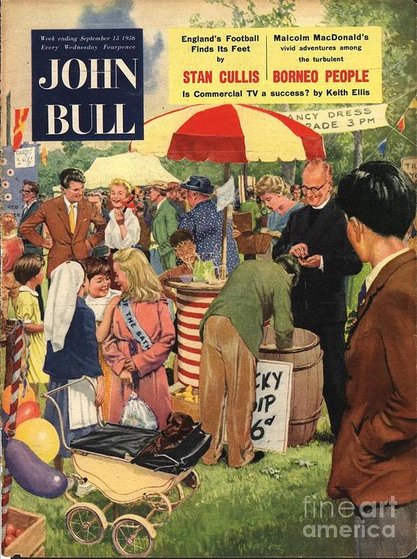 1950�s Art Print featuring the drawing John Bull 1956 1950s Uk Schools by The Advertising Archives