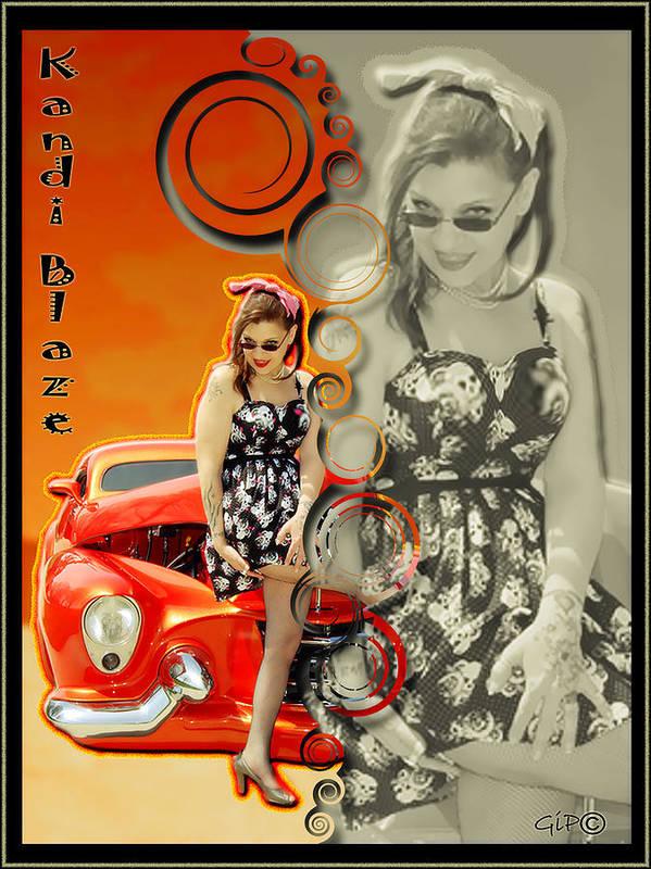Kandi Blaze Art Print featuring the photograph Kandi Blaze Poster 4 by Brian Graybill