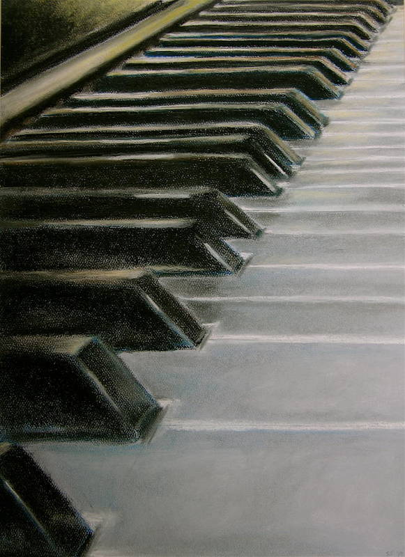 Pastel Art Print featuring the pastel Keys by Stacie Winright