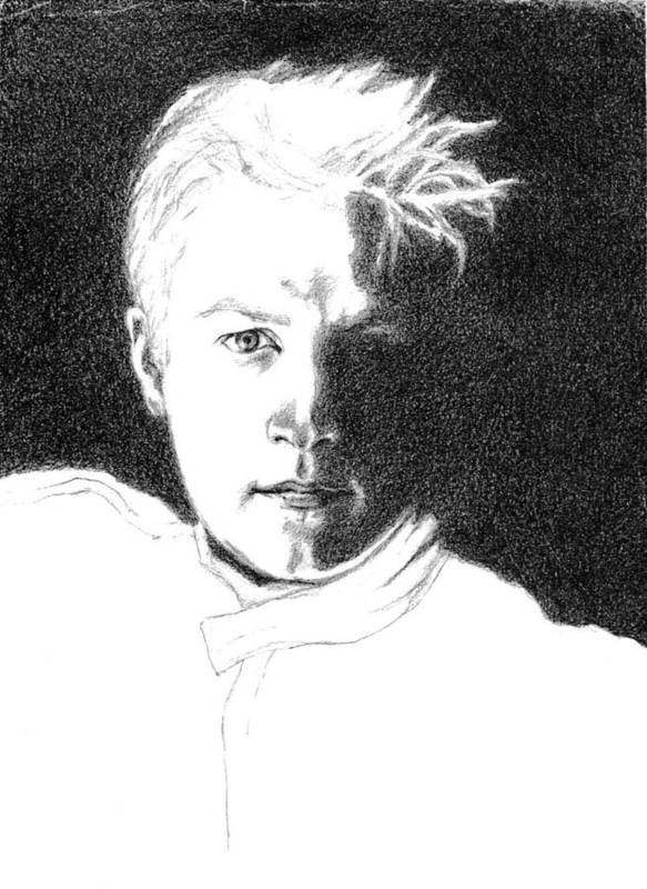 Formula 1 Portrait Art Print featuring the drawing Kimmi Raikkonen by Diane Fine