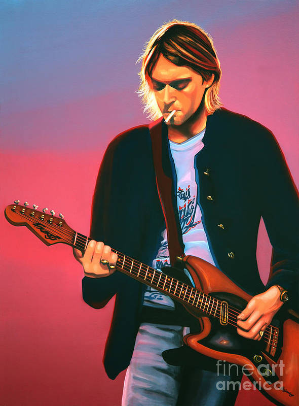 Suicide paintings fine art america - Kurt cobain nirvana wallpaper ...