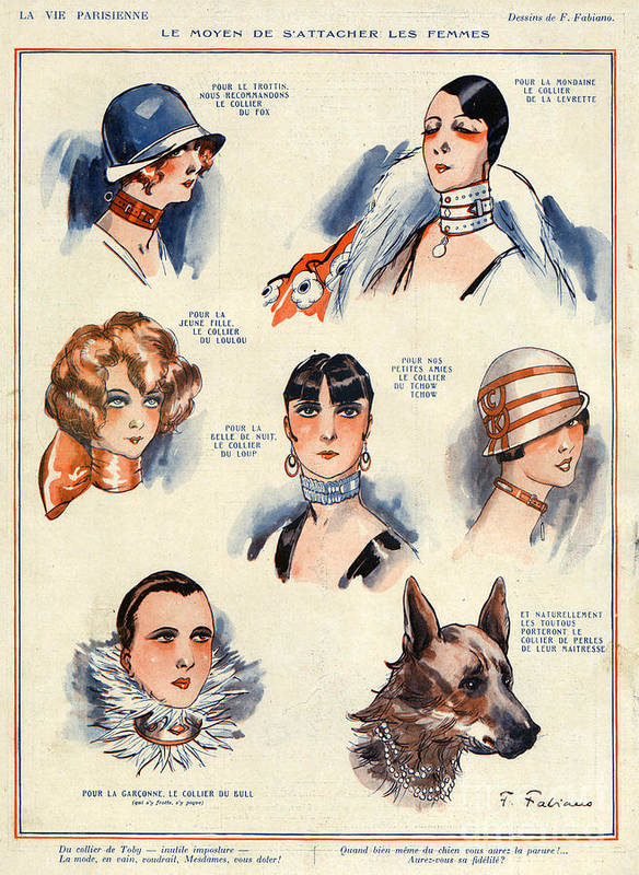 French Print featuring the drawing La Vie Parisienne 1924 1850s France F by The Advertising Archives
