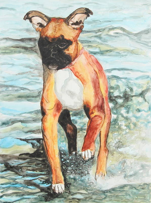Animal Art Print featuring the painting Leyla by Jeanne Fischer